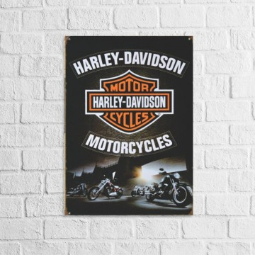 Placa Decorativa Harley...