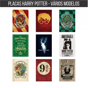Placa Decorativa Hary Potter