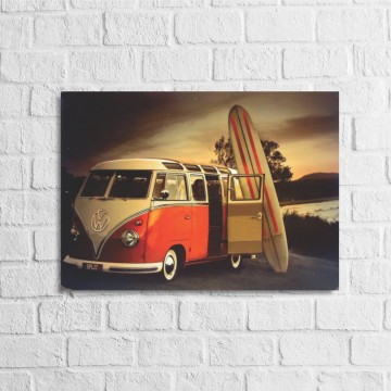Placa Decorativa Kombi Surf