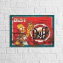 Placa Decorativa Retrô Duff...